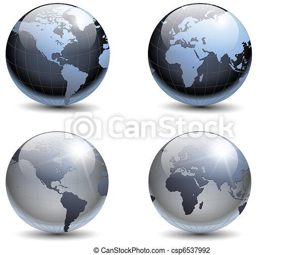 Earth globes - csp6537992
