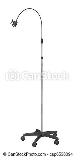 Adjustable metal mobile stand lamp, 3D illustration - csp6538094