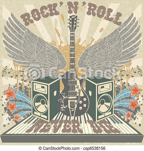 Rock n Roll never die - csp6538156