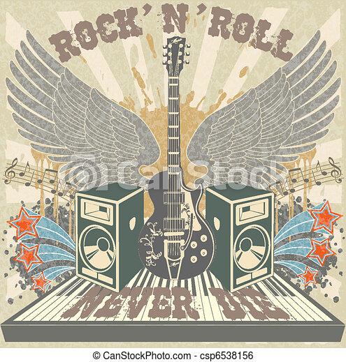 Rock n Roll never die - csp6538156