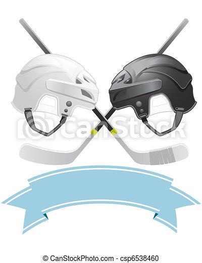 Ice Hockey emblem  - csp6538460