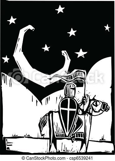 Knight beneath crescent moon - csp6539241