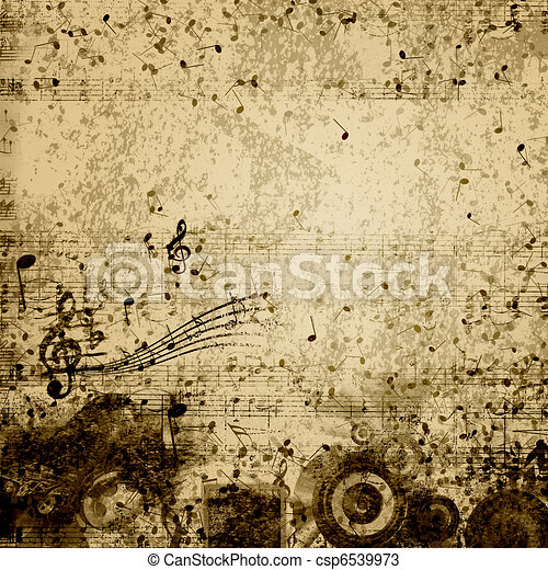 music notes - csp6539973