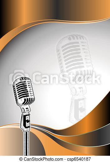 microphone metal background - csp6540187