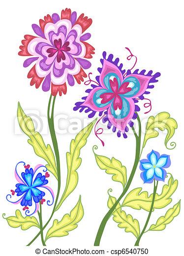 Fancy Flowers - csp6540750