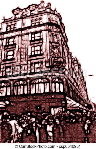 Artistic Impression Bromton Road London - csp6540951