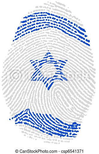 Israel Fingerprint passport - csp6541371