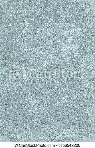 Washed pale blue rough plaster background - csp6542200