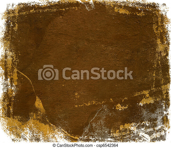 rust gloss paint with grunge feather edge isolated - csp6542364