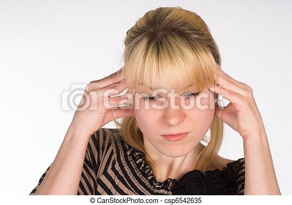 head ache showing