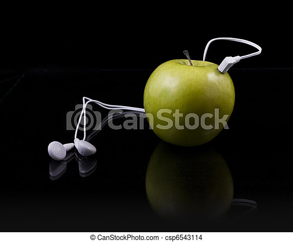 natural green Apple mp3 player - csp6543114