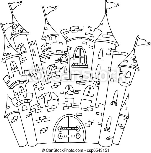 Outlined castle - csp6543151