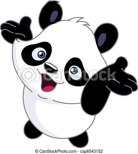 Cheerful baby panda - csp6543152