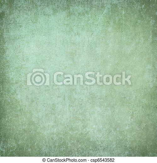 Green grunge plaster textured background - csp6543582