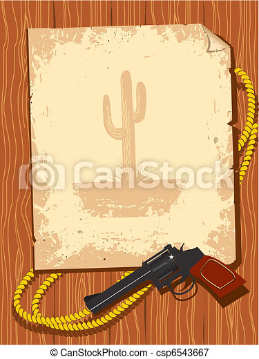 Texas coyboy background.  - csp6543667