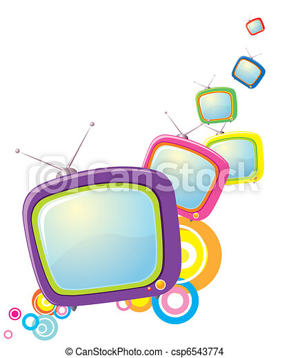 Vector televisions background. Abstract image for design - csp6543774
