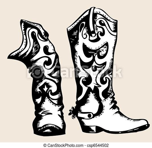 Cowboy boots .Vector graphic image - csp6544502