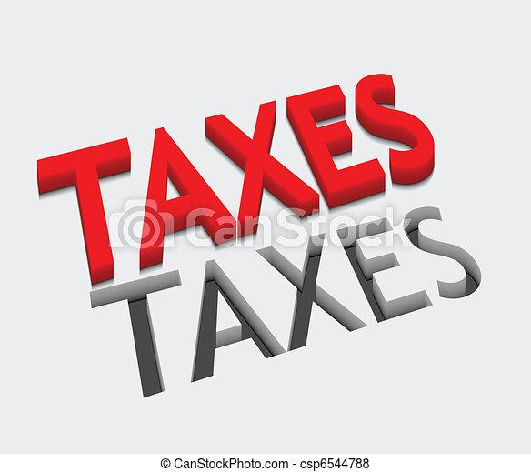 3d vector taxes text design - csp6544788