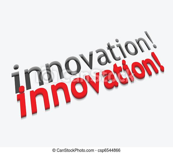 3d vector innovation text design - csp6544866