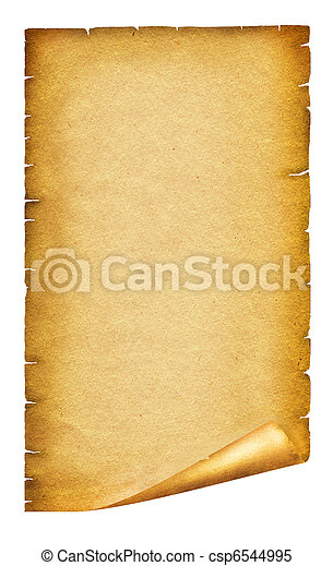 Old paper texture.Antique background scroll for text on white - csp6544995