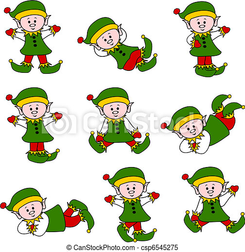 Xmas Cute Elf Set - csp6545275