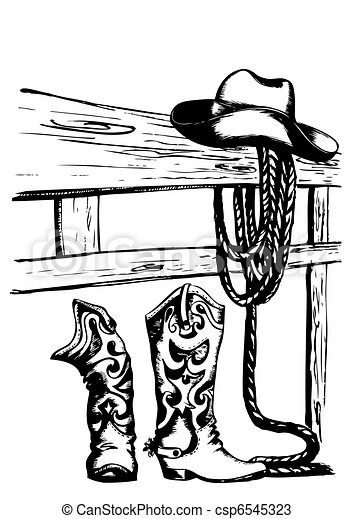 vector cowboy elements - csp6545323