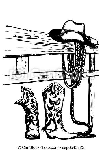 vector cowboy elements - csp6545323