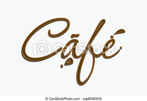 Chocolate cafe text  - csp6545433