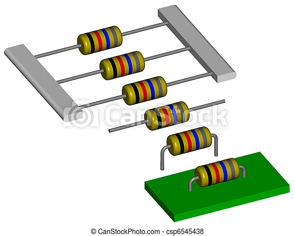 Assembly of resistors - csp6545438