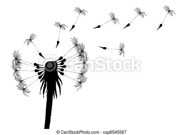 stock illustrations of blow dandelion vector illustration of blowing dandelion on. Black Bedroom Furniture Sets. Home Design Ideas