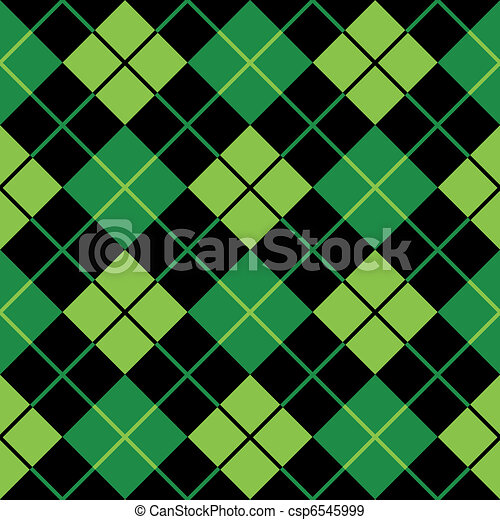 argyle green seamless background - csp6545999