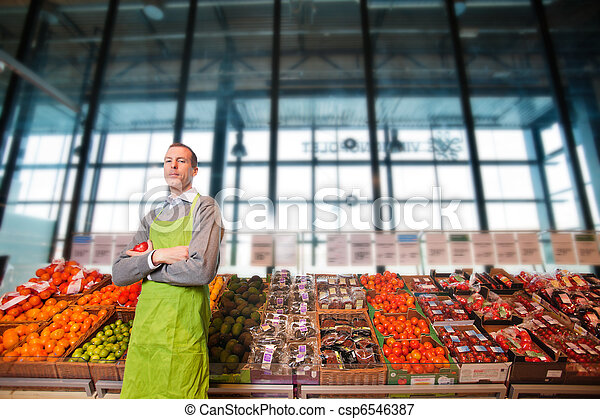 Grocery Store Owner Portrait - csp6546387
