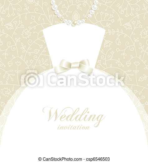 Wedding invitation - csp6546503