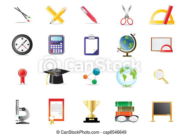 academy educational icons - csp6546649