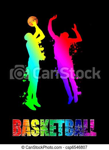 Basketball players - csp6546807