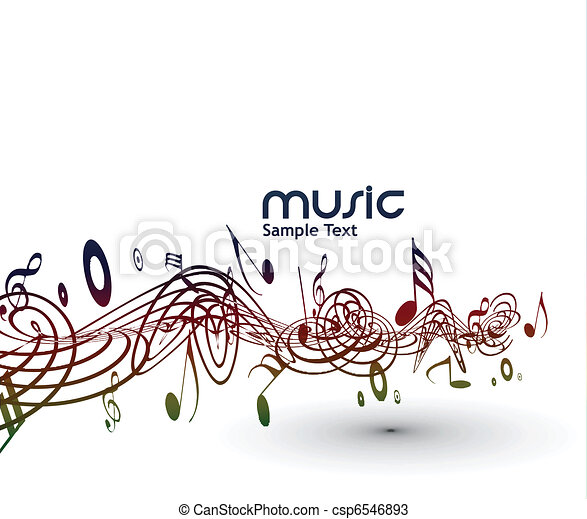 musical notes background - csp6546893