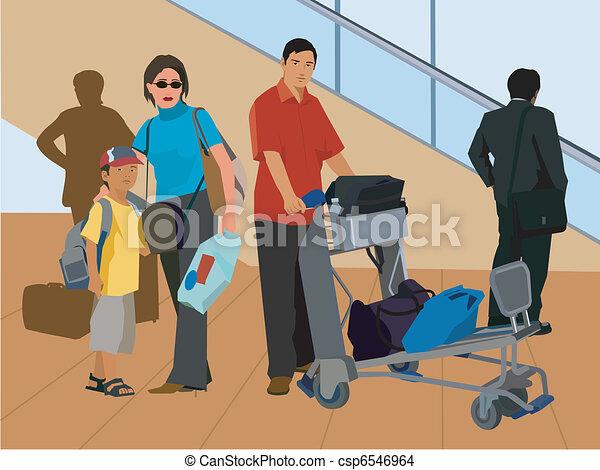 Disegno di standing turisti scala mobile bagaglio for Piani di garage free standing