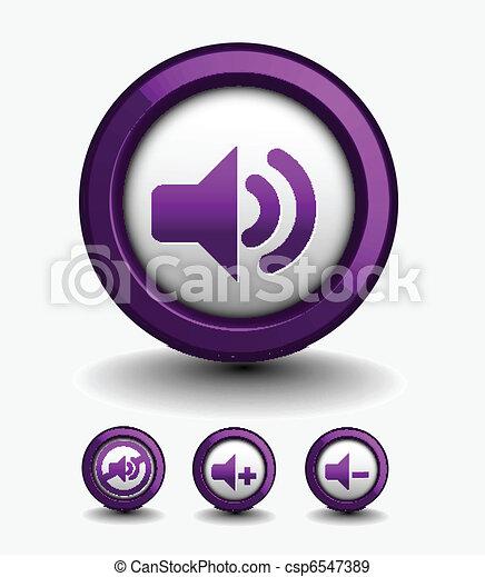 speaker web icon - csp6547389