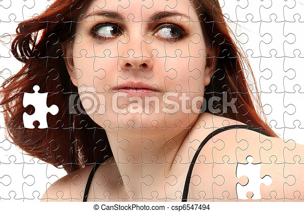 Prom Dress Teen Girl Puzzle - csp6547494