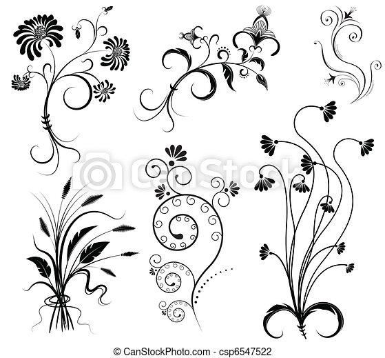 Ilustraciones de vectores de vector floral decoraci n - Dibujos de decoracion ...