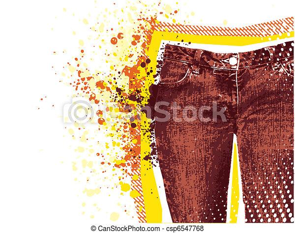 Jeans background.Vector grunge denim - csp6547768