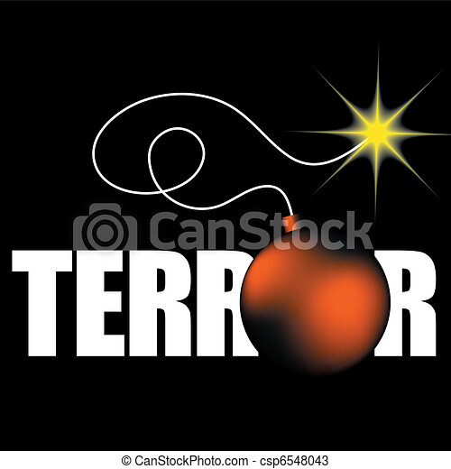word terror with bomb - csp6548043