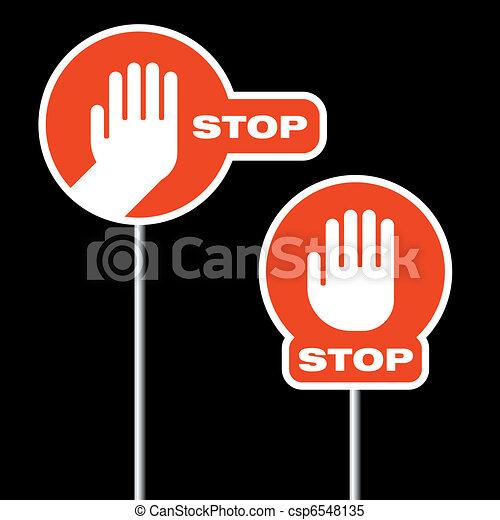 alternative road stop signs - csp6548135