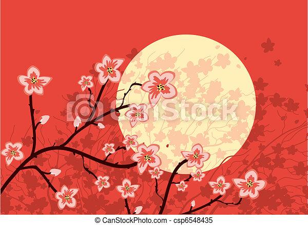 Flowing Sakura tree - csp6548435