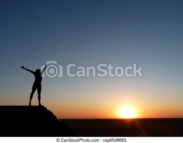 silhouette of a man - csp6548683