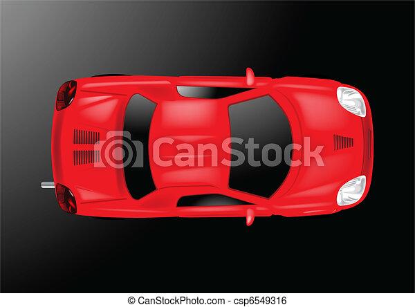 Car Top View - Vector Illustration - csp6549316