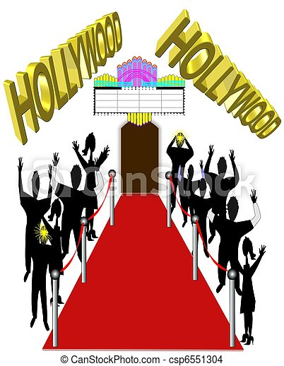 hollywood red carpet - csp6551304