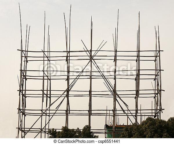stock fotografie von bambus ger stbau an a chinesisches geb ude standort csp6551441. Black Bedroom Furniture Sets. Home Design Ideas