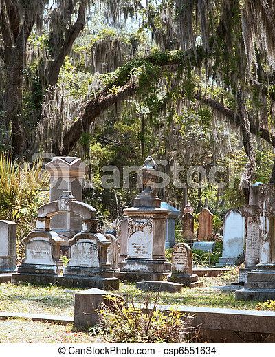 歴史的, 墓地 - csp6551634