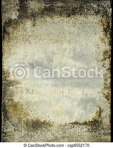 Grunge plaster wall with stained frame  - csp6552170